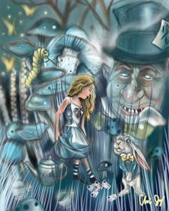Alice Digital painting by Chris Jay